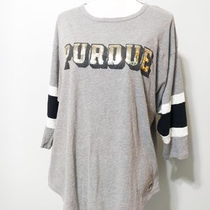 EUC Purdue VICTORIAS SECRET 3/4 Sleeve Top